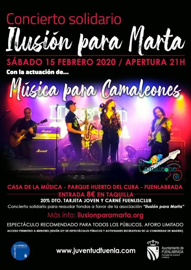 2020-02-15. Cartel concierto Camaleones